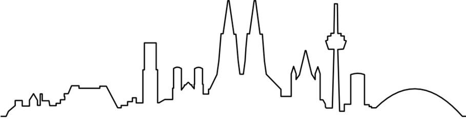 Skyline Köln Silhouette
