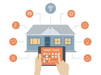 Smart house flat illustration concept