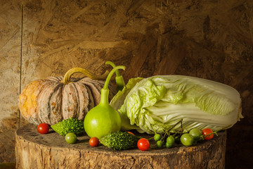 still life Vegetables and fruits.