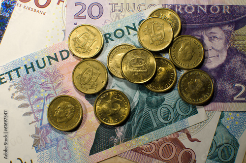 Swedish coins and banknotes