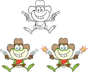 Frog Cartoon Mascot Character 5  Collection Set