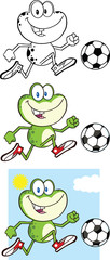 Frog Cartoon Mascot Character 10  Collection Set
