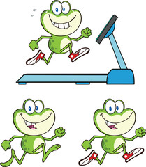 Frog Cartoon Mascot Character 14  Collection Set
