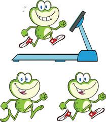 Frog Cartoon Mascot Character 14  Collection Set