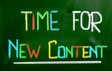 Time For New Content Concept