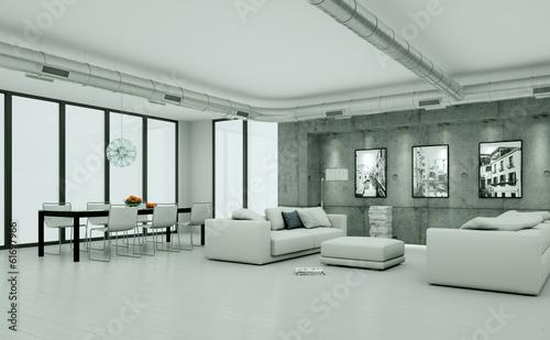 minimalistisches Loft