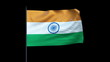 India Flag Waving, Seamless Loop, Alpha