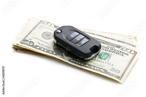 car key with dollars