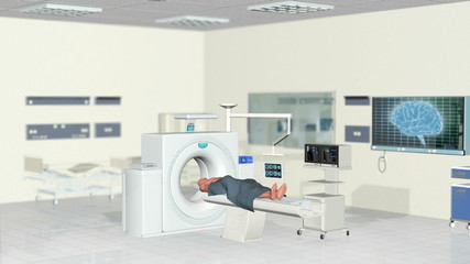MRI Scan in Hospital Room