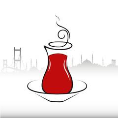 çay,vektörel çay bardağı