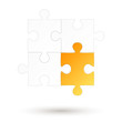 Puzzle - 4 Teile - gelbe Option