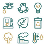 Ecology web icons, two color series