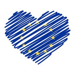 Strichzeichnung Herz - EU
