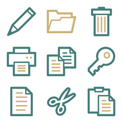 Document web icons, two color series