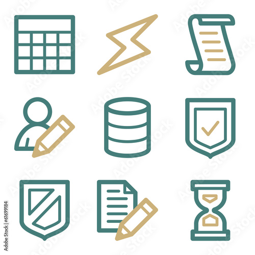 Database web icons, two color series
