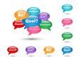 """BULLES """"QUESTIONS"""" (pourquoi comment combien qui quand où quoi)"""