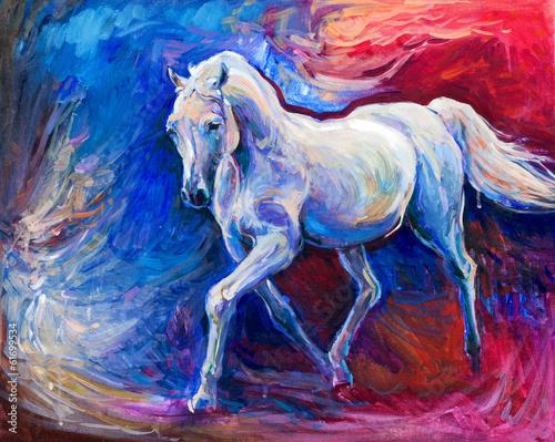 Blue horse - 61699534