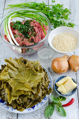 ingredients for cooking dolma