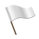 White Curl Flag Icon
