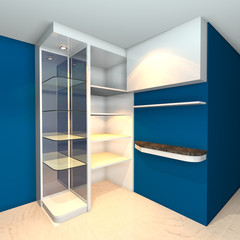 shelves designs blue