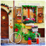 pretty streets of small italian villages - 61701106