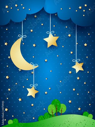 landschaft-fantasy-illustration-in-der-nacht