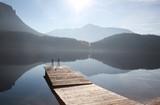 Fototapety Bootsteg - Seenlandschaft