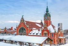 Gare centrale dans le centre ville de Gdansk
