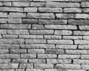 Monochrome stone wall