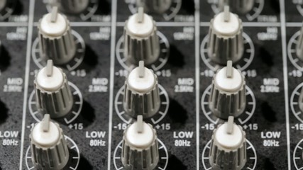 Music mixer on slider