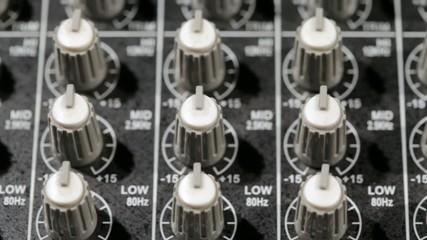 Music mixer on slider