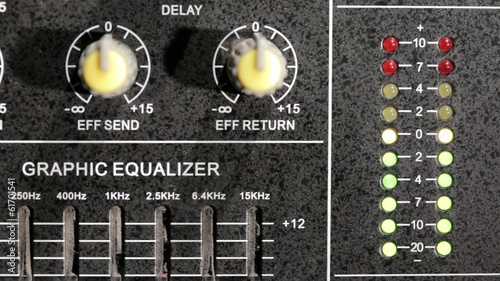 Music mixer with equaliser