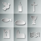 Fototapety 9 christliche Symbole