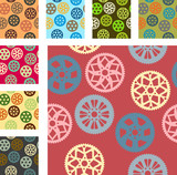 Bike gear vector pattern pack
