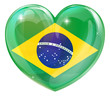 Brazil flag love heart
