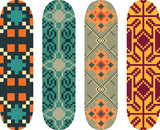 Vector east european pattern skateboard design