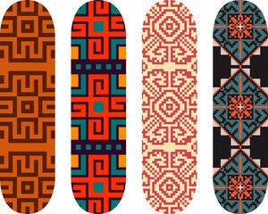 Vector east european pattern skateboard design