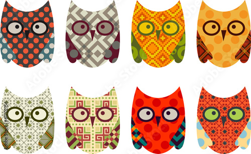 Cute Vector Collection of Owls - 61702156