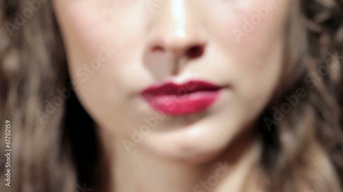 Close up shooting of glamour lips