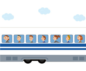 新幹線に乗って出張