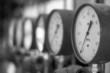 Leinwanddruck Bild - Manometers in the boiler