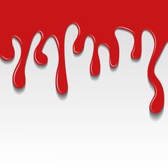 красная краска стекает на белом фоне