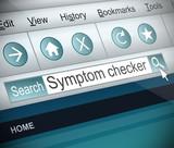 Symptom checker concept. poster