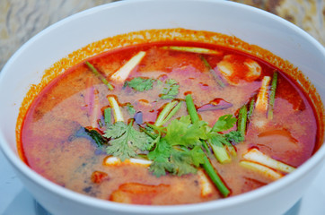 Thai cuisine name Tom yum goong
