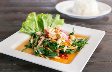 Spicy green salad