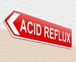Acid reflux concept.