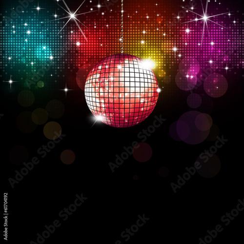 Fotobehang Uitvoering Disco Background