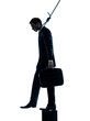 business man suicidal hanging silhouette