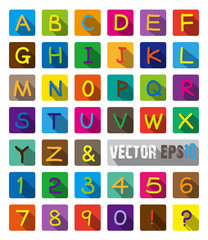 Vector Paper Graphic Alphabet Set.Alphabet and Numbers.
