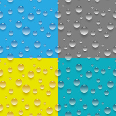 Seamless water drop pattern
